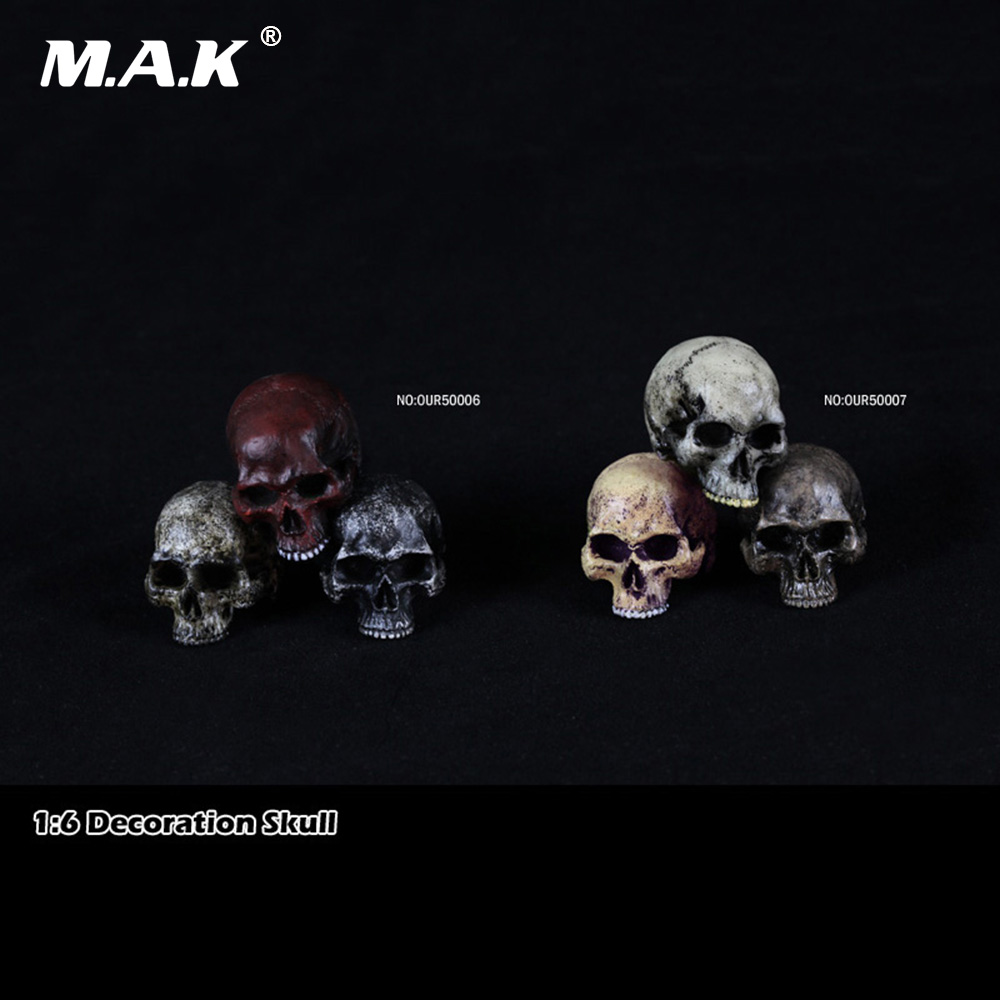 1/6 Decoration Skull Head Model Action Figure Accessories for 12 inches Action Figure large 24x24 cm simulation white cat with yellow head cat model lifelike big head squatting cat model decoration t187