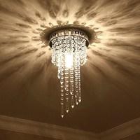 Modern Silver lustre LED Crystal ceiling lights lighting Fixture Ceiling Lamp Crystals Living room lights Bedroom lights
