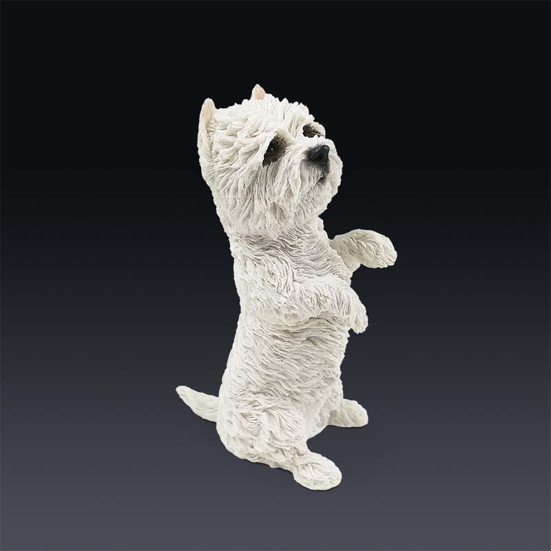 Mnotht 1/6 West Highland Terrier Perro Animal Postura Modelo de - Figuritas de juguete - foto 5