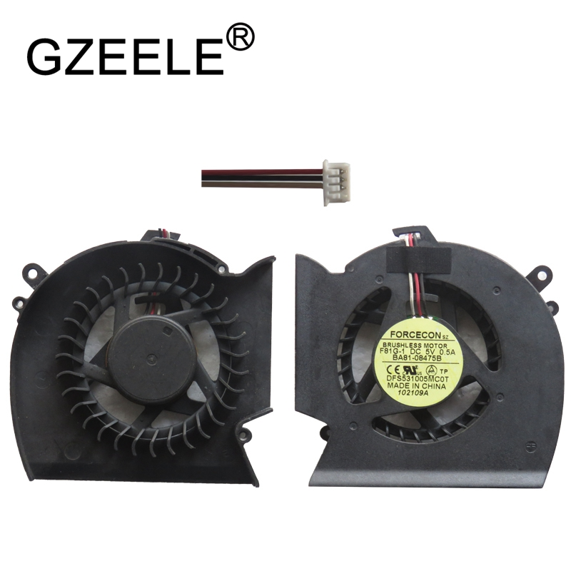 GZEELE New CPU Cooling Fan For SAMSUNG R530 P530 R523 R525 R528 R538 R540 R580 RV508 notebook Cooler replacement Laptop Computer gzeele new laptop cpu cooling fan for samsung np530u3c 532u3c np535u3c np540u3c notebook computer replacements cpu cooling