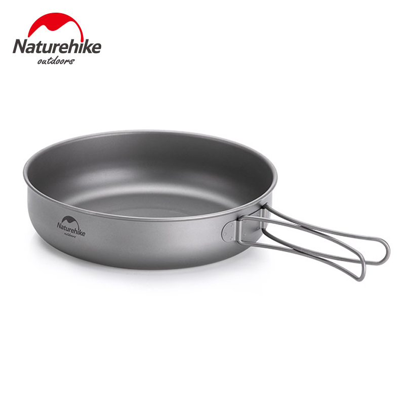 Naturehike Titanium Frying Pan Bowl Plate with Folding Handle Ultra-light Outdoor Camping Picnic Tableware KitchenwareNaturehike Titanium Frying Pan Bowl Plate with Folding Handle Ultra-light Outdoor Camping Picnic Tableware Kitchenware