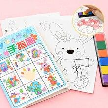 8 шт./лот, детские игрушки, аниме, набор для рисования, наклейки для карт, сделай сам, раскраски для детей, водная книга для рисования, Diy, красочные игрушки для детей