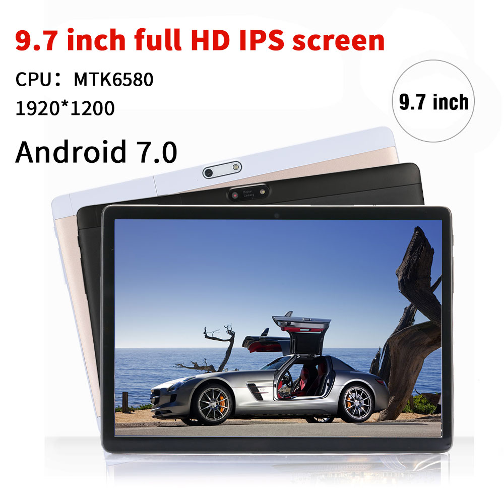 NERLMIAY 9.7 pouces Ultra-mince Original tablette PC Android 7.0 Octa Core 4GB + 64GB double cartes SIM WiFi Bluetooth 4.0 tablettes intelligentes