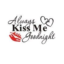 Wand Rote Lippenstift Englisch Brief Valentinstag Abnehmbare Wandaufkleber  Für Wohnzimmer Schlafzimmer Dekoration