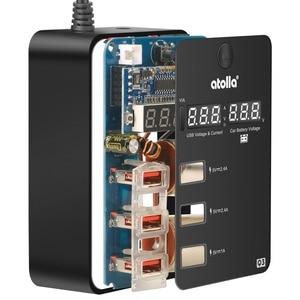 Image 5 - Atolla usb 3.0 hub ספליטר מטען לרכב 120 W 12 V/24 V רכב מצית כדי 3 USB מטען מתאם + 2 סיגריה שקע מצית