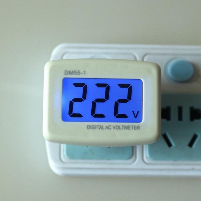 EU/US Plug AC 110V 220V Digital Voltmeter Euro Plug Household ...