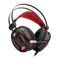 Redragon h210 gaming heaphone 7.1 som over ear fone de ouvido com controle de volume led interruptor de microfone de luz para gamer|Fones de ouvido| |  -
