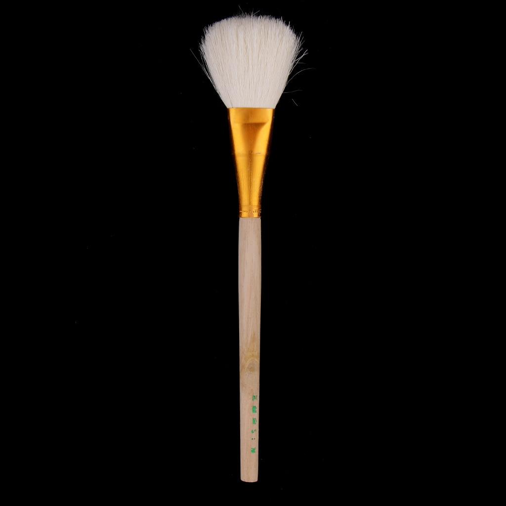 Большая голова глиняные чистящие кисти с деревянными ручками формочки, художники краски кисти, гончарная глина скульптура инструменты для резьбы, чистка, рисунок - Цвет: 21cm