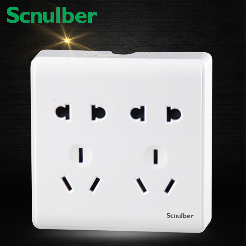 fans surface type shutter 10A 220V 10 poles dual two pins US and three pins AU wall switch socket