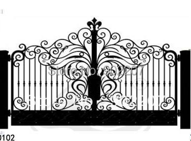 Aliexpresscom Buy door garden iron gates iron garden gates for