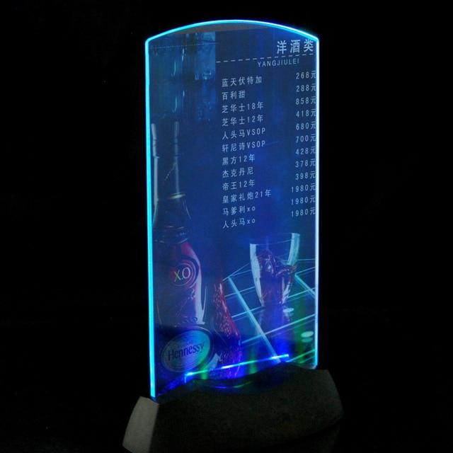 Acrylic Led Light Menu Holder Specials Advertisements
