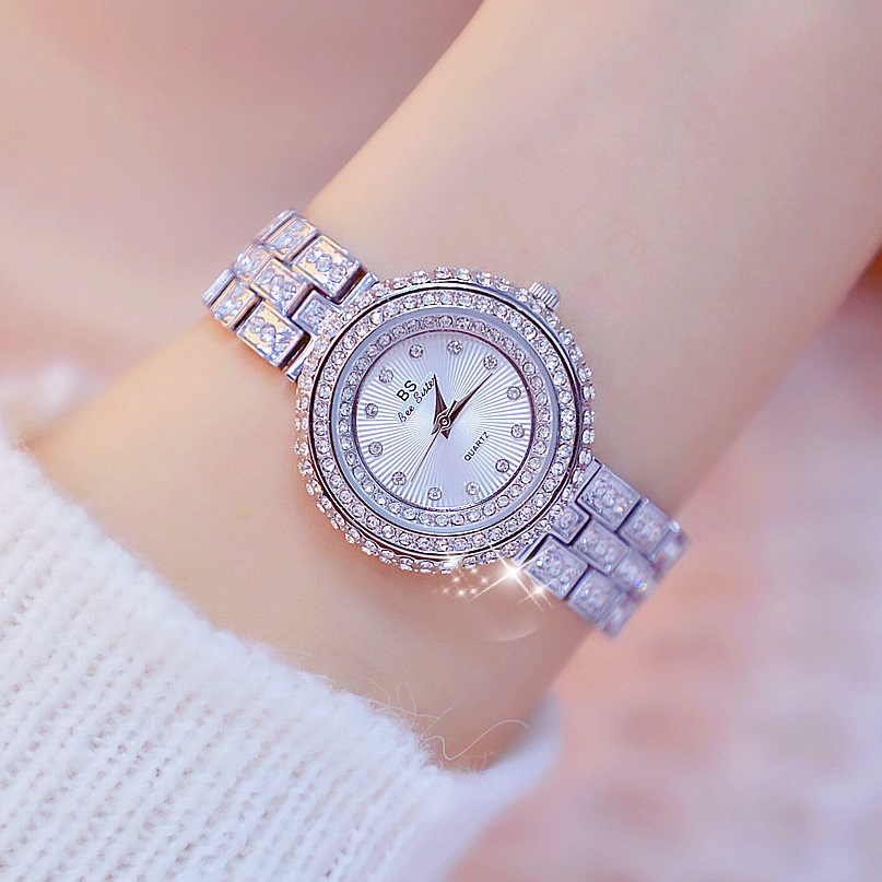New Design 32mm Luxury Diamond Dial Women Watches Lady's Elegant Dress Watch Girl Fashion Casual Quartz Watches Montre Femme 1