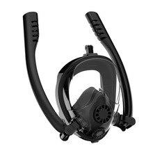 Full Face Snorkeling Mask for Natural Breath & Safe Swimming Anti Leak Fog Diving Dry Snorkel Set K2 For Kids Adult