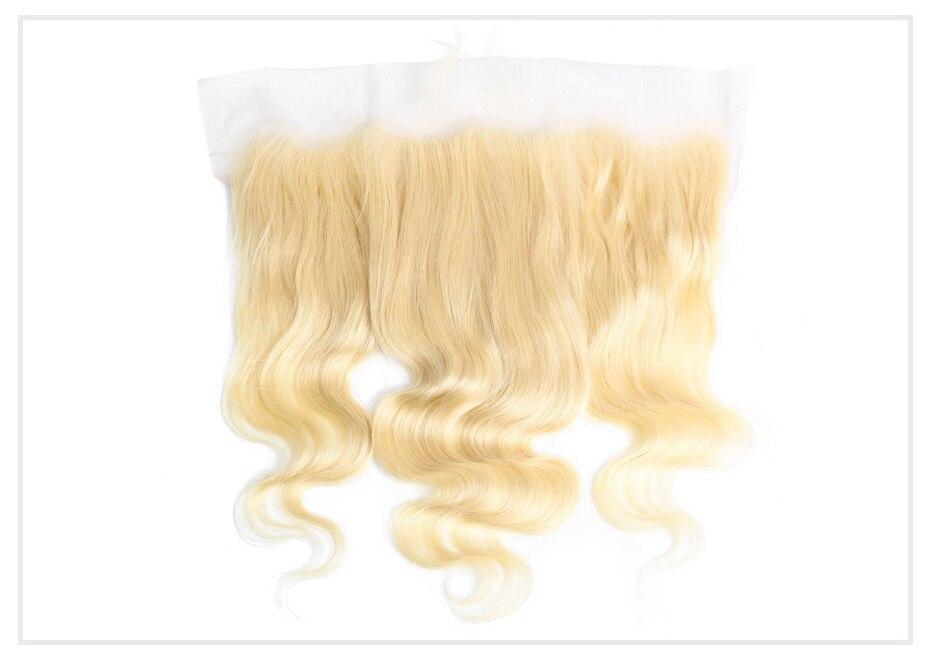 HTB1IiGeaJfvK1RjSspoq6zfNpXa8 Monstar Brazilian Hair Weave Bundle Deals 613 Honey Blonde Body Wave Remy Human Hair Bundles with Closure 13x6 Lace Frontal