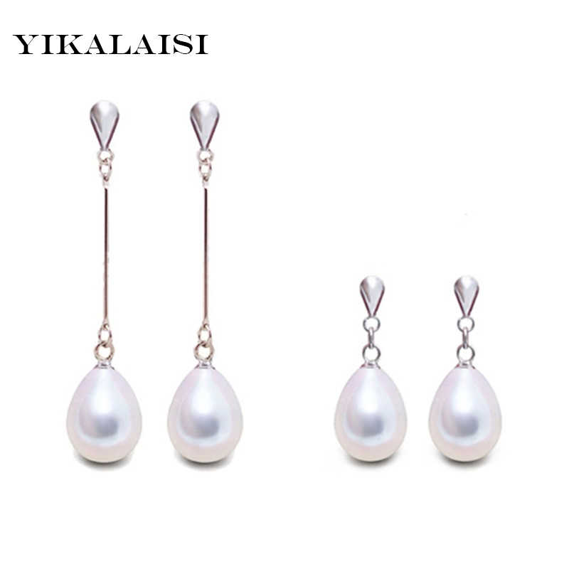 2017 Fashion Brand Natural Pearl Statement Earrings Outstanding For Women Long Earring 925 Sterling Silver Jewelry  Wedding Gift