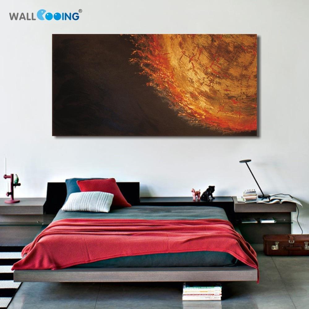 100% Ručně malované nebe červená černá olejomalba Abstraktní moderní olejomalby na plátně zdi umění domácí dekorace malba Best Buy