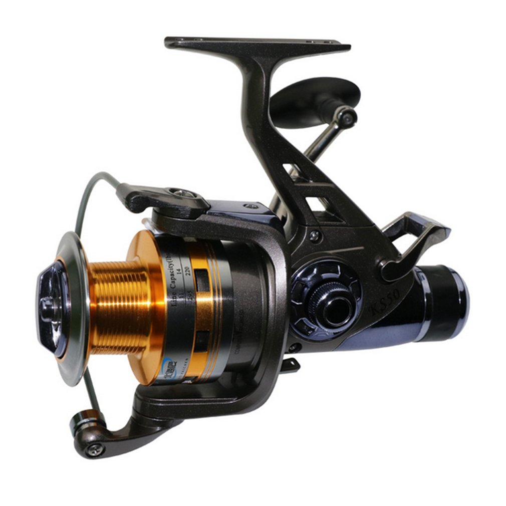 Full Metal Head 9+1 Ball Bearing 5.2:1 Carp Fishing Reel Wheel With Double Unloading Force Brake Fishing Reels