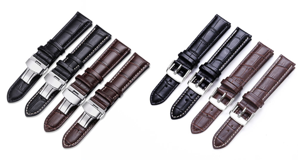 iStrap Watchband 18mm 19mm 20mm 21mm 22mm 24mm Soft Calf Genuine Leather Watch Strap Alligator Grain Band for Tissot Seiko
