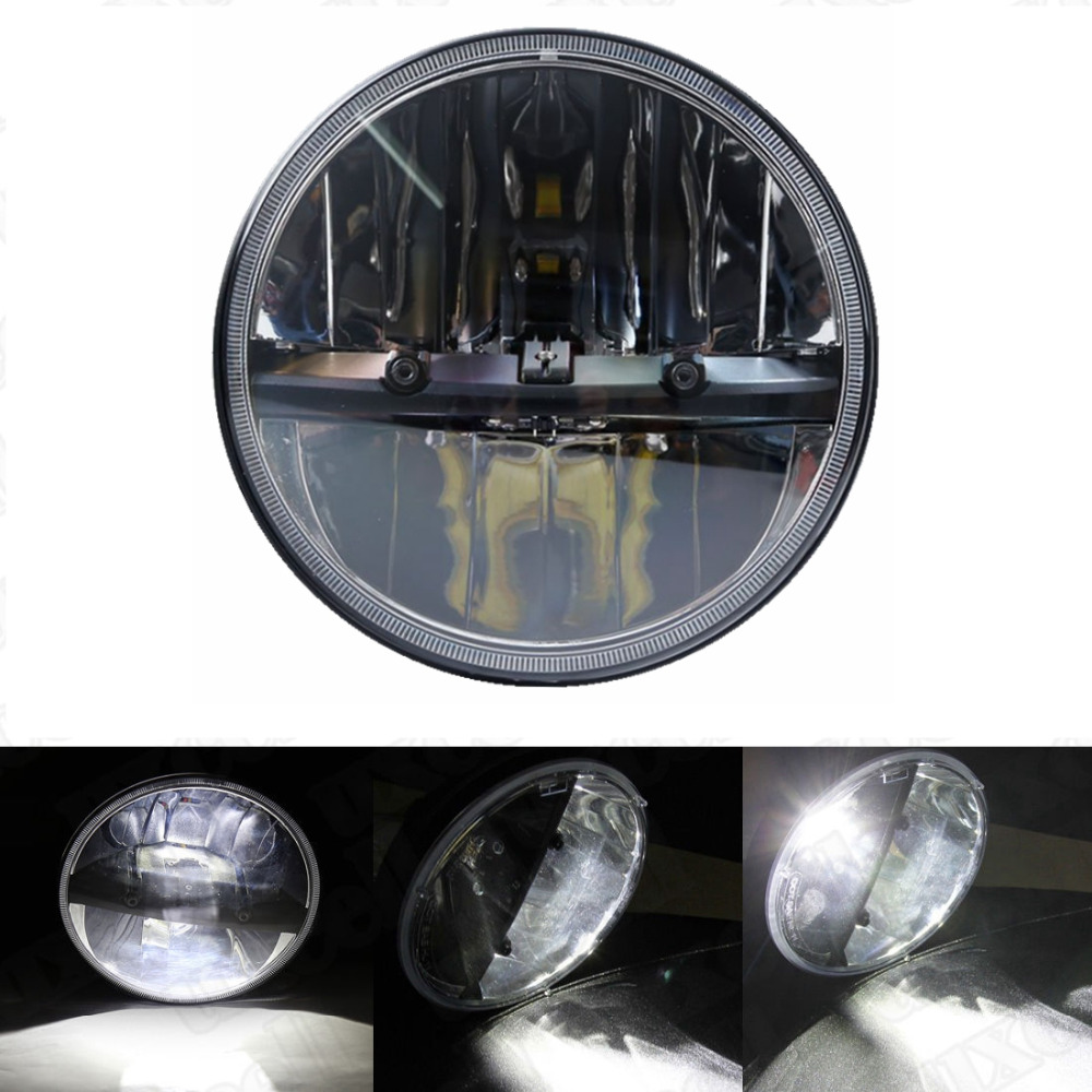 7 H4 rond moto phare LED pour Touring Electra Glide7 H4 rond moto phare LED pour Touring Electra Glide