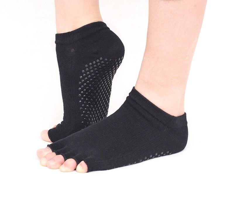 algodão yoga meias esportes sílica gel anti-fricção