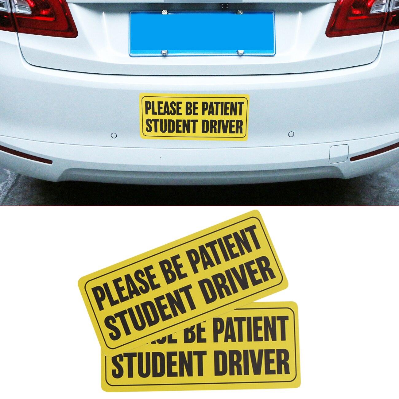 2 шт. съемный магнитный Будьте терпеливы студент водитель автомобиль Детская безопасность бампер магнит знаки автомобиля Стикеры # sgb-3-2