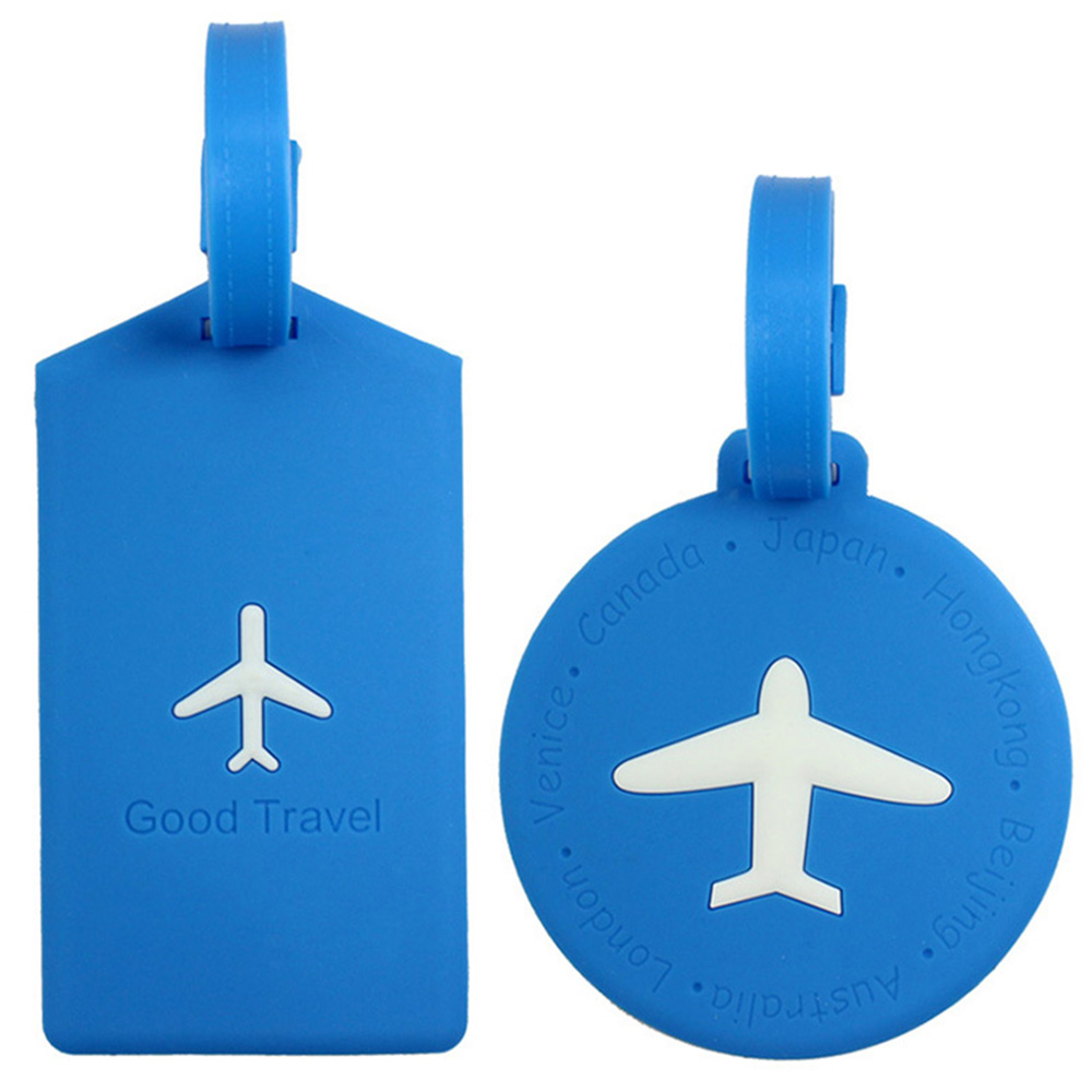 Fashionable Silicone Travel Luggage Tags Baggage Suitcase Bag Labels Name Address