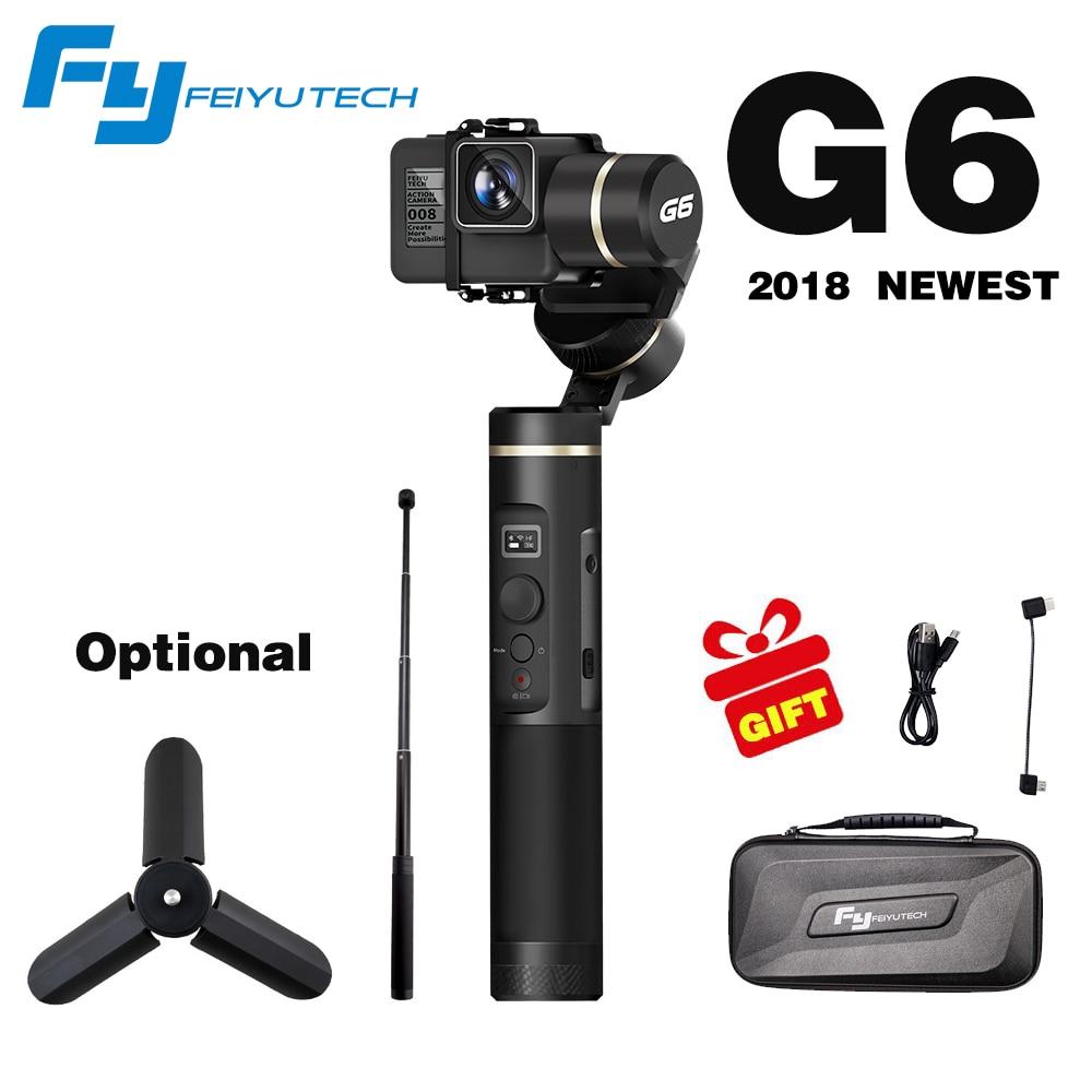 FeiyuTech Feiyu G6 3 Axes De Poche Cardan Stabilisateur pour la caméra d'action Gopro 6 5 4 RX0 xiaomi yi 4 k Wifi Bleu dent Écran OLED