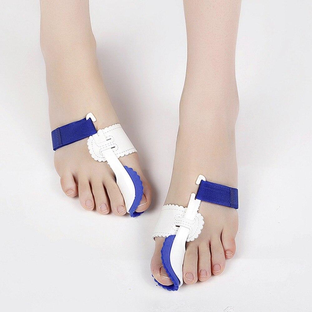 2 Pcs/lot Big Toe Separator Corrector Straightener Bunion Splint Toe Straightener Foot Pain Relief Hallux Valgus Feet Care Pro