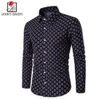 New Brand Blouse 2017 Men Shirt Hit A Small Grid Dress Shirt Long Sleeve Slim Fit