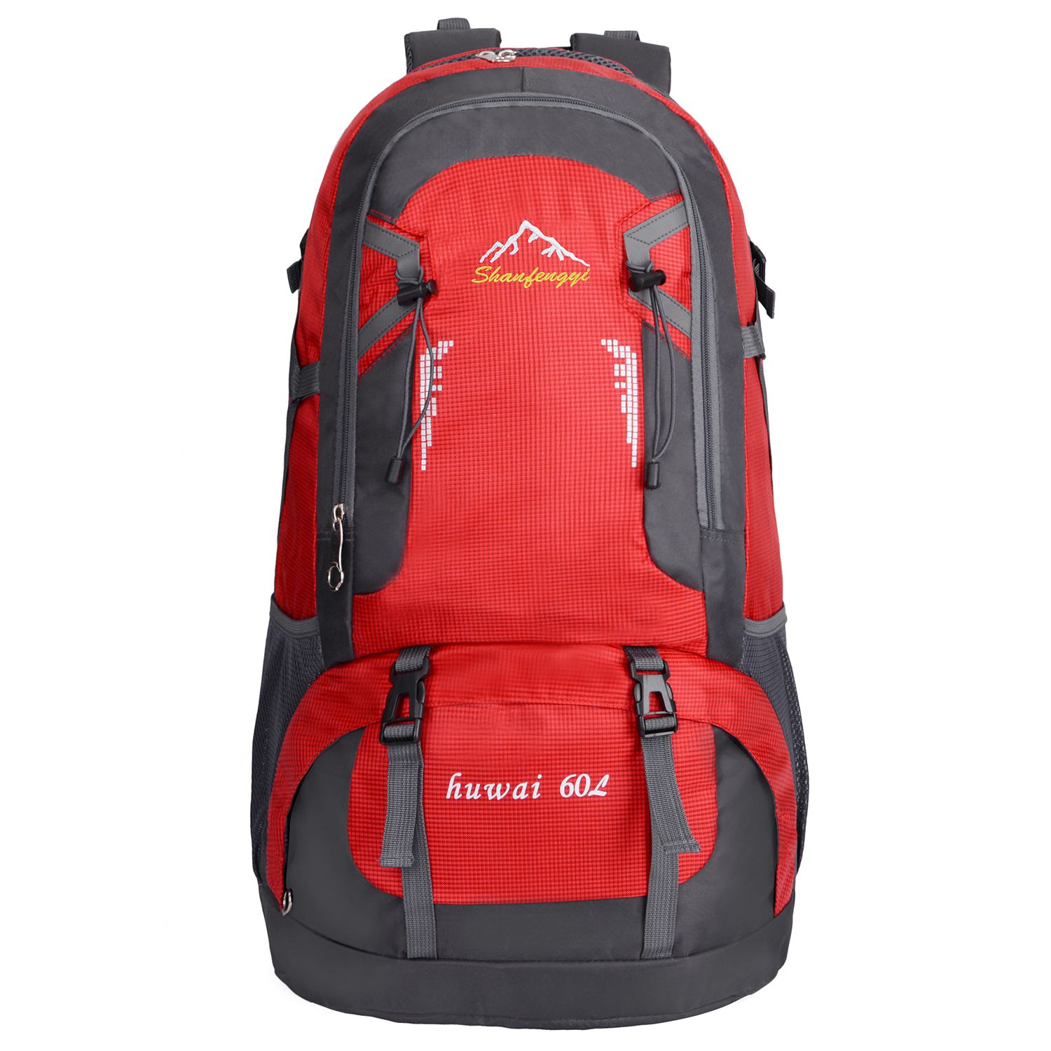 60L Waterproof Outdoor Backpack Sports Bag for Hiking Travel Mountaineering Rock