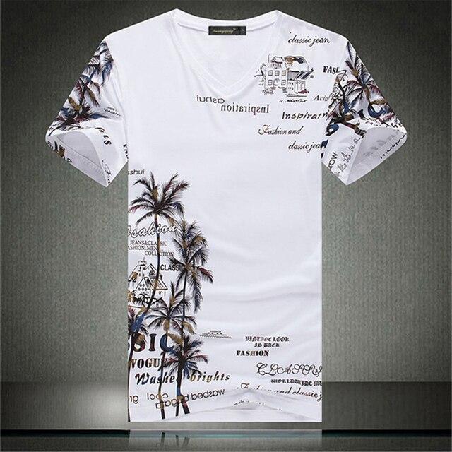 ココナッツ木の手紙柄プリントファッションおかしい半袖 tシャツ夏 2019New 最高品質綿の高級 tシャツ男性 m-4XL