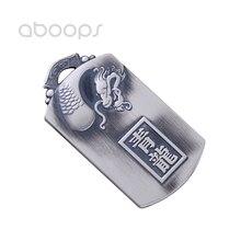 цена на Vintage 999 Sterling Silver Chinese Zodiac Dragon Pendant for Men Boys Free Shipping