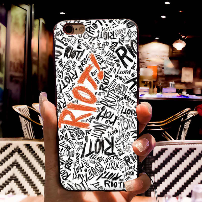 MaiYaCa Riot Paramore Colorful Phone Accessories Case for Apple iPhone 8 7  6 6S Plus X 5 5S SE XS XR XS MAX Cover