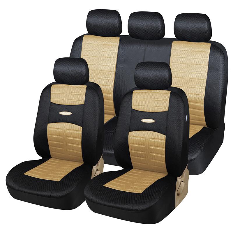 Prix pour Nouvelle Technolog 3D Air Mesh Tissu Housses de Siège De Voiture Universal Fit Voitures SUV Véhicules Airbag Compatible 11 pcs Housse de Siège