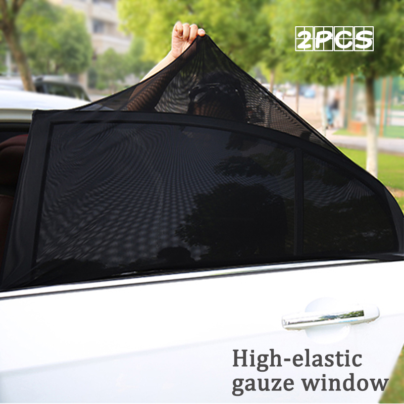 Car Side Window Sunshade for Baby Universal for Cars and SUVs Lucky-all star 2 Pack UV Protection Curtain Mesh Sun Heat Block Sunshade Special Mosquito Resistant Screen Window for Baby Kids Pets