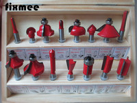 15pc Router Bit Set 1 4 6 35mm Shank Wood Carving Tungsten Carbide Tipped Woodworking Milling