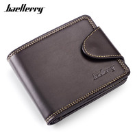 Baellerry Vintage Standard Men S Wallet Leather Trifold Short Wallets Card Holder Male Large Capacity Small