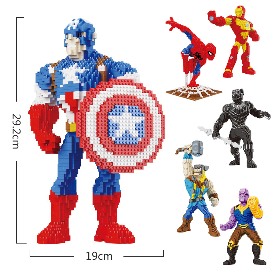 Super Heroes  Batman Blocks The Avengers Heroes Series  Toys Micro Diamond Building Blocks Good Gifts