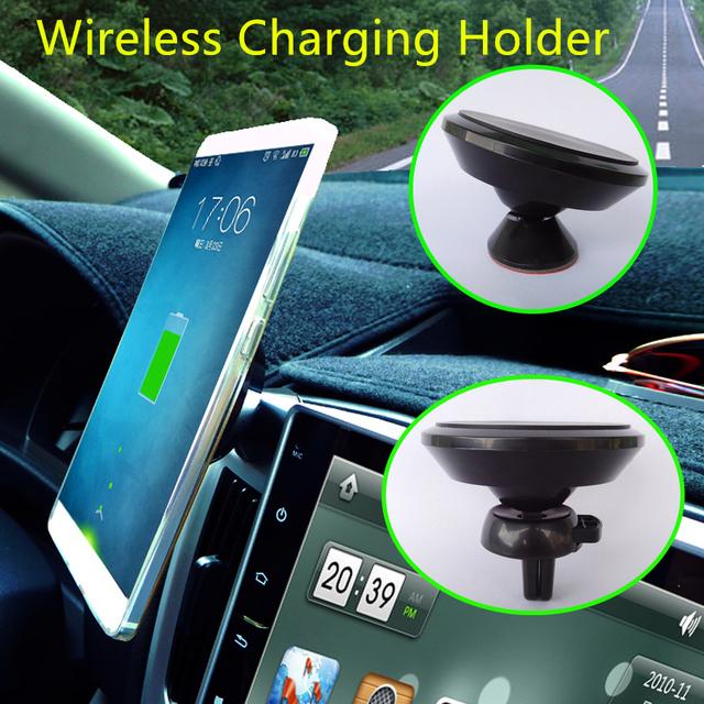 Qi sem fio do carregador do telefone móvel suporte para carro de sucção magnética sem fio de saída de ar 3 m cola titular suporte para iphone xiaomi huawei