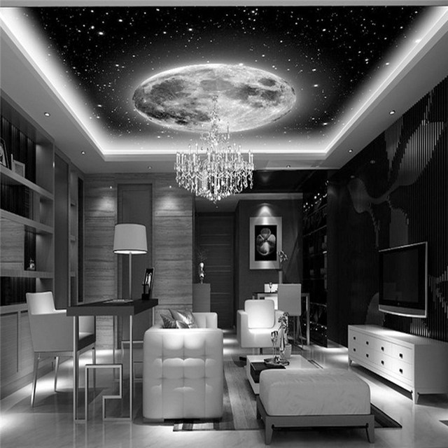Space galaxy planets photo wallpaper custom art wallpaper for Space wallpaper for rooms