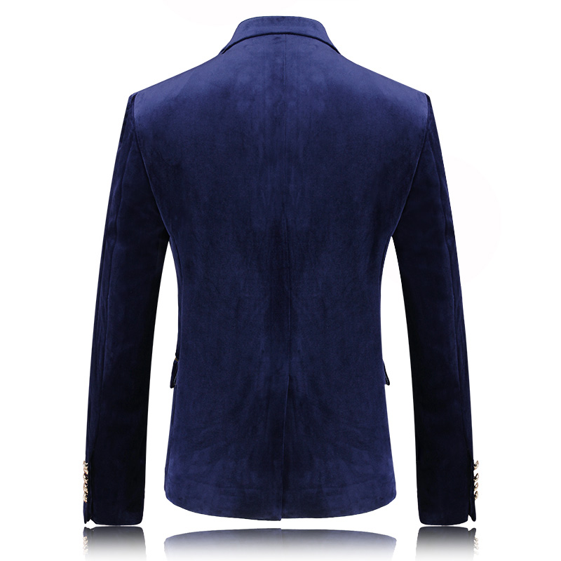 2019 New Mens Blazers Gentlemen High Quality Velvet Blazer Smooth Men's Coats Business Casual Suits Jackets Men Plus Size M 3XL - 2
