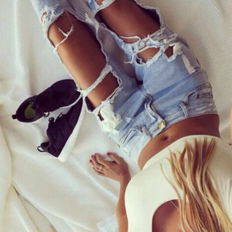 b7c1acc2873 SILVERCELL que mujeres destruidas Ripped Distressed Slim Denim Pantalones  novio Jeans pantalones vaqueros femeninos