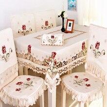 40*90cm Vintage de encaje bordado Rectangular mantel para boda fiesta eventos banquetes casa decoración de la mesa de alimentación de la cubierta de la Mesa