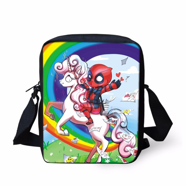 FORUDESIGNS School Crossbody Bags For Girls Boy Cute Unicorn Shoulder Bag  Kid Small Cartoon Horse Messenger Schoobags Wholesales 2431296b70e01