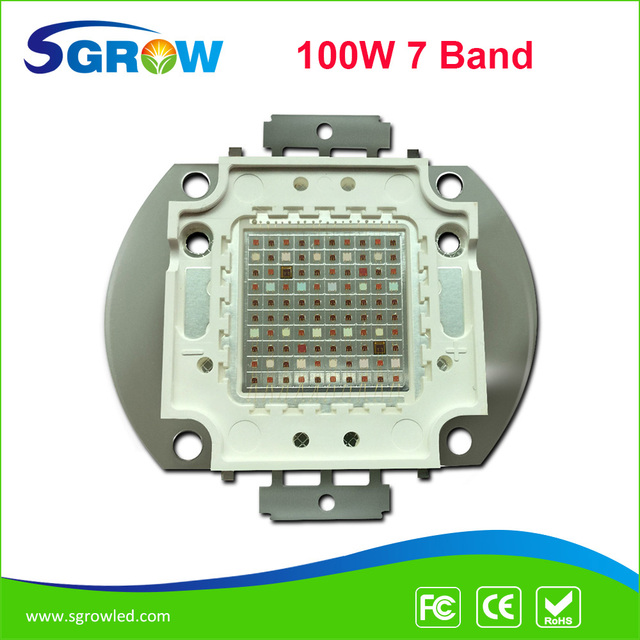 100W  grow led chip,full spectrum 7 band red blue with FR UV,50000h lifespan,3 years warranty