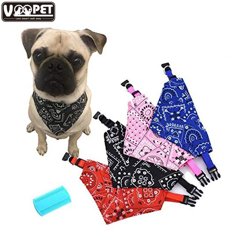 S/M/L Adjustable Pet Dog Puppy Cat Neck Scarf Bandana Collar Neckerchief Pet Accessories Triangular Bandage