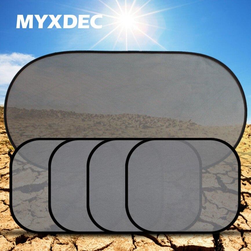 Black Car Window Sunshade Sun Shade Cover Sun-Shading Board Car Shade Sun Block Solar Protection 5 Piece/Set