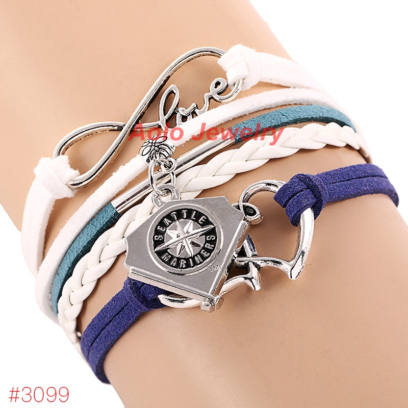 MLB Infinity Love Seattle Mariners Baseball Team Bracelet ...