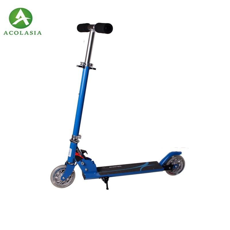 Roues en polyuréthane de Scooter de coup de pied de Mini Scooter d'enfants de Bule avec 2 3 dossiers intermittents, ajustent la taille de l'enfant de Scooter de pied de Camokat