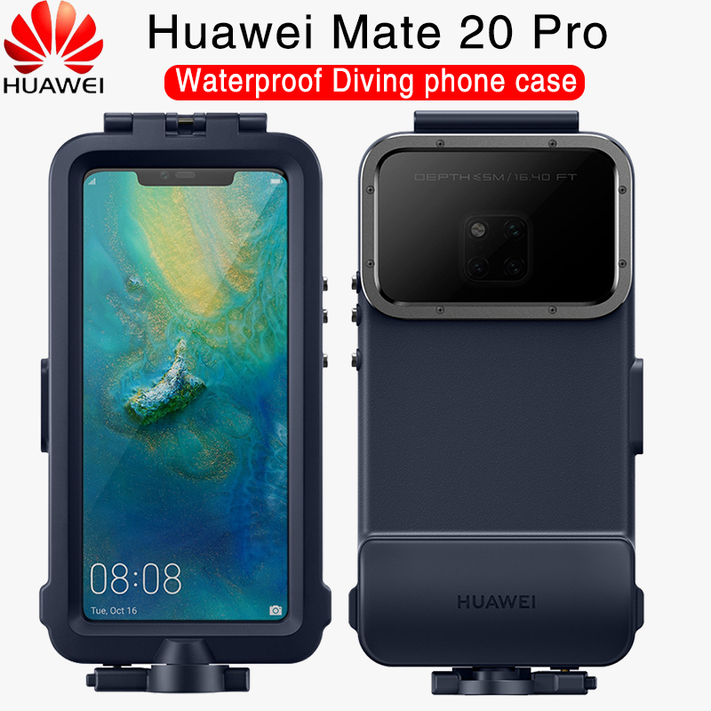 HUAWEI Mate 20 Pro Case Offical Original Waterproof Swimming Diving Camera Protect Cover HUAWEI Mate 20